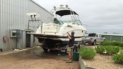 Boat and Caravan Wash Down Service