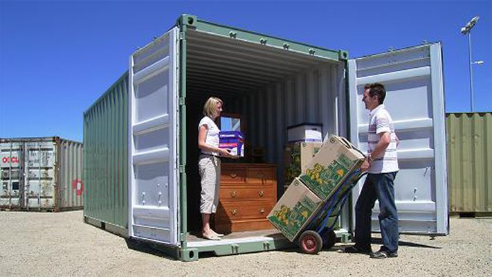 Shipping containers for self storage